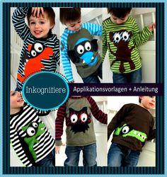 Applikationsvorlagen: Inkognitiere, Kreativ-Ebook - farbenmix Online-Shop - Schnittmuster, Anleitungen zum Nähen