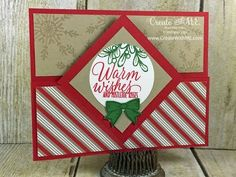 Warm Wishes Christmas Card by Stampin' Up! More details on the Create With M.E. blog here: http://www.createwithme.com/2016/09/tin-of-tags.html