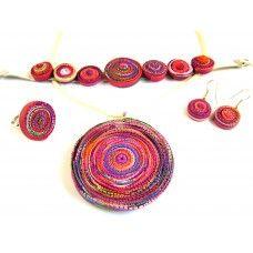 Spirálos ékszerszett 04 Spiral, Crochet Earrings, Jewelry, Jewlery, Jewels, Jewerly, Jewelery, Accessories