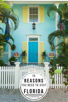 15 Reasons Why You Should Visit Florida Florida Homes Exterior, Beach Cottage Exterior, Florida Adventures, Visit Florida, Vacation Trips, Vacation Ideas, Beach Cottages, Travel Images, Travel Usa