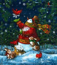 snowmen.quenalbertini: Christmas snowman - Janet Stever Art