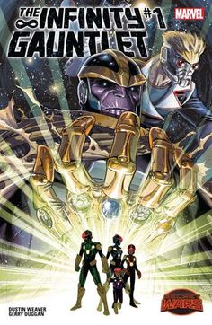 Infinity Gauntlet (2015) #1: Think your life is hard? Anwen Bakian's family lives in a post-apocalyptic wasteland, scrounging for food and avoiding giant bugs intent on eating them. Mom left years ago to join the Nova force and never came back. So it's just Anwen, her dad, her sister and her grandpa against the huge insects. That is, until she finds a mysterious stone that may or may not hold incredible cosmic power. Don't miss this incredible new series by Deadpool writer Gerry Duggan.
