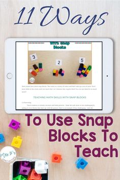 Snap blocks are fantastic for helping students break down abstract concepts. These manipulatives are great for teaching because they naturally add in visual supports. Try out these 11 different hands on ideas with students in special education and inclusion settings. Click to read if you have students who are hands on learners, need visual supports or are in autism classes, life skills programs or other self-contained classrooms. Writing Lesson Plans, Writing Lessons, Lesson Planning, Autism Classroom, Classroom Resources, Classroom Ideas, Teaching Reading, Teaching Math, Self Contained Classroom