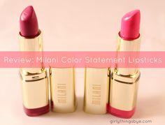 Milani Color Statement Lipstick Review