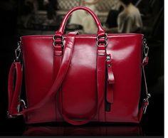 Women Genuine Leather Handbags Shoulder Messenger Bags Satchel Tote Purse Bag #3