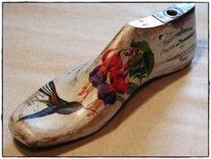 Hormas de madera decoradas con decoupage - Adornos - Casa - 512677