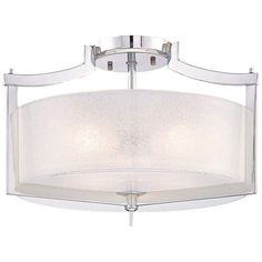 """MINKA LAVERY Minka Clarte Collection 17"""" Wide Chrome Ceiling Light $240 + AN EXTRA 15% OFF AT CHECKOUT - USE PROMO CODE: HELLOFALL19 FREE SHIPPING OR PICK UP - WEBSITE: GlowOnSunset.Net"""