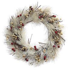 Linda Guirlanda de Natal Branca com galhos
