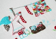 this is so amazing... look at the ll the cute little quilt squares. From A Little Sweetness via Etsy