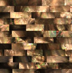 Black Mother of Pearl - Brick Pattern