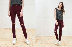 Мода улиц: джеггинсы с рваными коленками - Bracatus. Блог о колготках и чулках