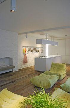 Salvaged timber floor in warehouse loft by Form Design Architecture, via Dezeen