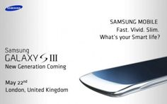 Imagem do Galaxy SIII aparece em convite para evento de imprensa