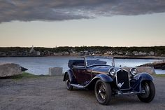 This strikingly handsome two-toned 1933 Alfa Romeo 8C 2300 Castagna debuted at…