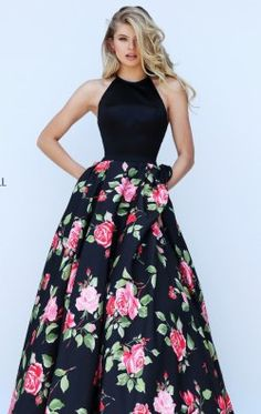 Floral Printed Ball Gown by Sherri Hill 50333