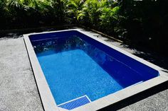 Rectangle Plunge Pool // Manufactured by Allcast Precast Pool Water, Water Tank, Plunge Pool, Sunshine Coast, Spas, Gold Coast, Swimming Pools, Exterior, House Design