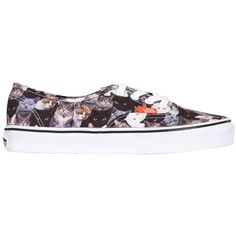 VANS Authentic Canvas Cats Sneakers found on Polyvore