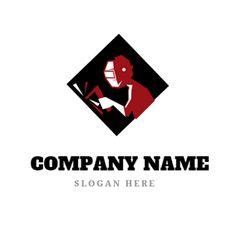 Welder and Welding Spark logo design Custom Logo Design, Custom Logos, Welding Logo, Online Logo, Logo Maker, Company Names, Slogan, Business Names