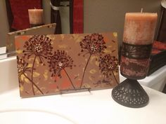 Hey, I found this really awesome Etsy listing at https://www.etsy.com/listing/242828309/hand-painted-wall-art-fall-flowers