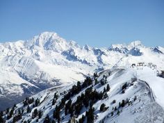 Snow covered French alps