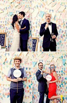 PHOTOBOOTH. Pour animer un mariage, proposez à vos invités de beaux photobooth pour les occupés et les amusés !