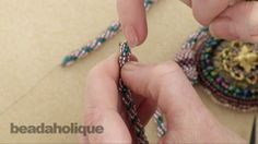 How to Add a Clasp to a Bead Woven Spiral Rope Diy Jewelry Videos, Jewelry Making Tutorials, Jewelry Crafts, Handmade Jewelry Findings, Beaded Jewelry, Beaded Bracelets, Jewellery, Beading Tools, Beading Tutorials