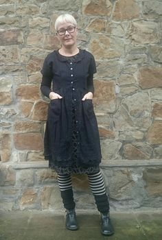 A way to warm up a dress for winter wear.