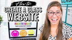 How to Create a Class Website for Teachers | Google Sites Tutorial Classroom Websites, Teacher Websites, Online Classroom, Teacher Tools, Teacher Hacks, Classroom Ideas, Classroom Resources, Future Classroom, Teaching Tips