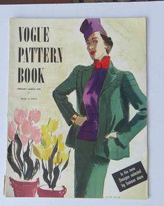 Vintage 1930s Feb March 1938 Vogue Pattern Book Magazine Couturier | eBay