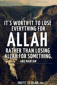 Do not lose Allah.