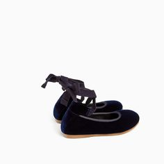 VELVET LACE-UP BALLERINAS-SHOES AND BAGS-BABY GIRL | 3 months-3 years-KIDS-SALE | ZARA United States