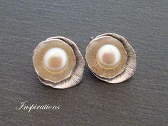 Lotusblüten - Ohrstecker Sterling-Silber von Inspirations auf DaWanda.com