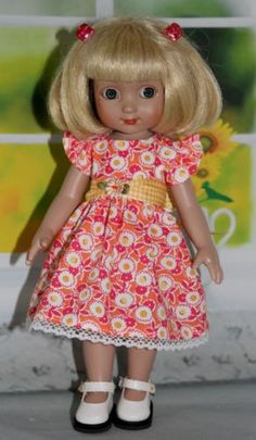 Think-Spring-Peachy-Pink-Posies-made-to-fit-10-Tonner-Ann-Estelle-Patsy
