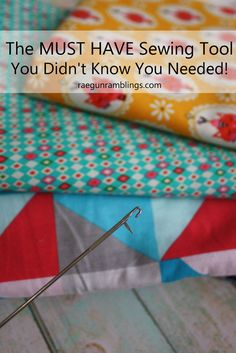 Yes! Why don't people tell you about this. Makes sewing so many things WAY easier. from Rae Gun Ramblings
