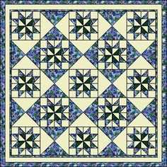 """Great looking quilt top using the Saw tooth Star Quilt Block. 12"""" Blocks, Traditional; possible for QOV"""