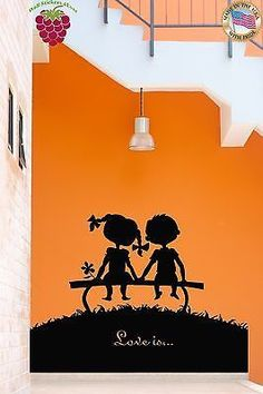 Wall Stickers Vinyl Decal Girl And Boy Romantic Love Is For Living Room (z1740)