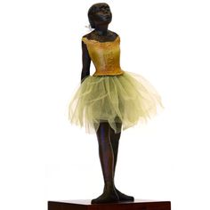 """Edward Degas Sculpture - 13"""" H and 6"""" H -   The Fourteen Year Old Dancer"""