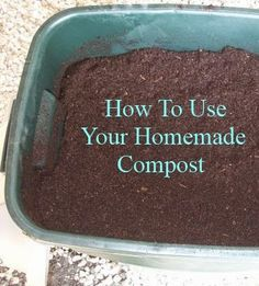 Gardening - How to Use Your Homemade Compost