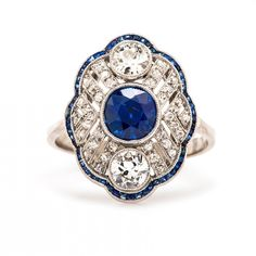 Vintage Sapphire And Diamond Engagement Rings