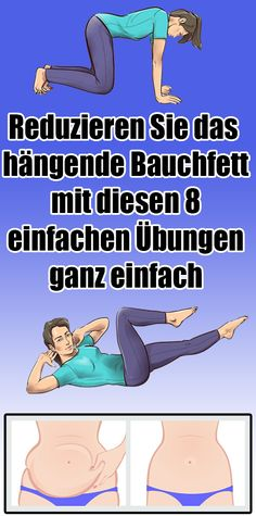 Easily reduce the hanging belly fat with these eight simple exercises - Faszien Yoga - Fitness Fitness Workouts, Gewichtsverlust Motivation, Easy Workouts, Yoga Fitness, Health Fitness, Reduce Belly Fat, Lose Belly Fat, Healthy Sport, Pilates