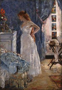 La Toilette, Henri Gervex. French Academic Painter (1852 - 1929)