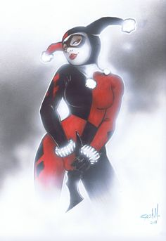 Harley Quinn batarang Tommy Castillo Comic Art