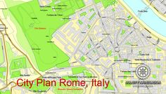 Printable City Plan Map of Rome, Italy, mappa roma vettoriale, Adobe Illustrator, full vector, scalable, editable, separated text layer, street names, 29,3 MbZIP. DOWNLOAD NOW>>> http://vectormap.info/product/printable-city-plan-map-of-rome-italy-mappa-roma-vettoriale-adobe-illustrator/