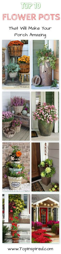 Having a nice garden isn't enough – to make it perfect, you need to have a great porch. For some this means having plenty of mini pots with colorful flowers, while for others it means having big, clay pot. There are few ways to play with pots and flowers and all of them don't require too much time.