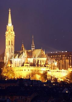 Though beautiful in the daytime, Budapest really comes to life at night amidst the glow of city lights.