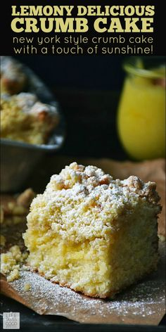 I honestly didn't think crumb cake could get any better, but swirling lusciously sweet and tangy lemon curd throughout, livens up the flavor and adds a hint of sunshine to the color making it perfect for springtime or anytime, really. This dessert is great for Easter! #LTGrecipes