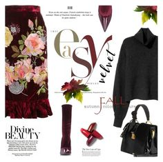 """Crushing on Velvet"" by lacas ❤ liked on Polyvore featuring Alice Archer, Miu Miu, Balenciaga and velvet"