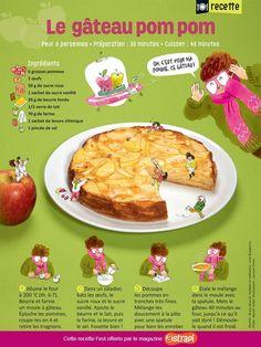 Recette sucrée: legâteau pom pom - Astrapi Pancakes, French Toast, Cooking, Breakfast, Desserts, Food, Design Art, Biscuits, Illustration
