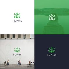 Cannabis branding: 42 chronic weed logos and marijuana packaging ideas. NuMist logo design by Dave N Roach.