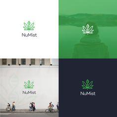 Cannabis branding: 42 chronic weed logos and marijuana packaging ideas. NuMist logo design by Dave N Roach.
